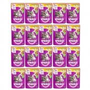 Kit com 20 - Alimento úmido Whiskas  - Sachê Sabor Frango ao Molho para Gatos Filhotes - Mars (85g)