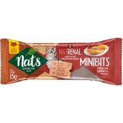 Kit com 6 Snacks Mini Bits Nats para Gatos - 3 NatHairball + 3 NatRenal (15g)