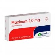 Maxicam 2,0 mg - Anti-inflamatório à base de Meloxicam para Cães e Gatos - OuroFino (10 comprimidos)