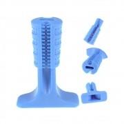 Mordedor Higiênico e Escova de Dentes para Cães - Bom Amigo (Grande) Azul