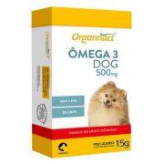 Omega 3 Dog 500mg Suplemento Cães - Organnact (30 cápsulas)