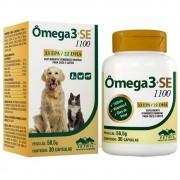 Ômega 3 + SE 1100 - Suplemento Mineral Vitamínico para cães e gatos (30 cápsulas) - Vetnil