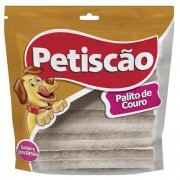 Palito de Couro Bovino 4 mm para Cães Adultos - Petiscão (500g)