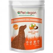 Pet Vegan Bifinhos de Frutas - Mamão, Laranja e Coco Gluten Free - Petisco Saudável Vegano para Cães (300g)