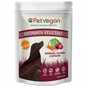 Pet Vegan Bifinhos Vegetais - Beterraba, Cenoura e Espinafre Gluten Free - Petisco Saudável Vegano para Cães (300g)