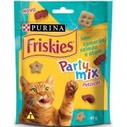 Petiscos Friskies Party Mix Sabor Camarão, Salmão e Atum para Gatos Adultos - Nestlé Purina (40 g)