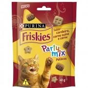 Petiscos Friskies Party Mix Sabor Cordeiro, Carne Suína e Carne para Gatos Adultos - Nestlé Purina (40 g)