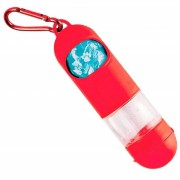 Pop Bag Gel - Cata Caca 2 em 1 Sacolinha Biodegadrável Coletora de fezes + Cleaner Gel - Chalesco (Vermelha)