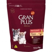 Ração Gran Plus Cães Filhotes Miniaturas e Pequenos Frango e Arroz (3 kg) - Affinity Guabi