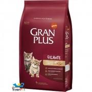 Ração Gran Plus Frango e Arroz para Gatos Filhotes (1 kg) - Guabi