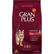 Ração Gran Plus Gatos Adultos Carne e Arroz (10 pacotes de 1 kg cada) - Affinity Guabi