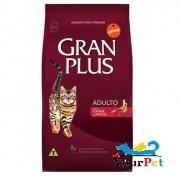 Ração Gran Plus Gatos Adultos Carne e Arroz (3 kg) - Guabi