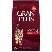 Ração Gran Plus Gatos Adultos Carne e Arroz - AffinityGuabi (10 pacotes de 1kg cada)