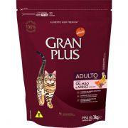 Ração Gran Plus Gatos Adultos Salmão e Arroz (3 kg) - Affinity Guabi