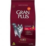 Ração Gran Plus Gatos Castrados Carne e Arroz (10 pacotes de 1 kg cada) - Affinity Guabi