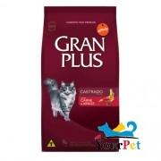 Ração Gran Plus Gatos Castrados Carne e Arroz  (3 kg) - Guabi
