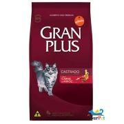 Ração Gran Plus Gatos Castrados Carne e Arroz para Gatos Adultos (10,1 kg) - Guabi