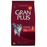 Ração Gran Plus Gatos Castrados Carne e Arroz para Gatos Adultos (10 pacotes de 1kg) - Guabi