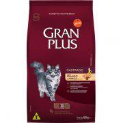 Ração Gran Plus Gatos Castrados Frango e Arroz (10 pacotes individuais de 1kg cada) - Affinity Guabi