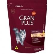 Ração Gran Plus Gatos Castrados Frango e Arroz (1 kg) - Affinity Guabi
