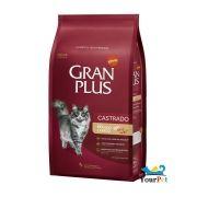 Ração Gran Plus Gatos Castrados Frango e Arroz para Gatos Adultos (10,1 +1 kg Grátis) - Guabi
