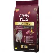Ração Gran Plus Gourmet Gatos Castrados Ovelha e Arroz (10 pacotes de 1 kg cada) - Affinity Guabi