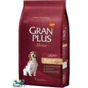 Ração Gran Plus Menu Light Frango e Arroz para Cães Adultos com tendência ao Sobrepeso (15 kg) - Guabi