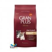 Ração Gran Plus Menu Mini Filhote Frango e Arroz para Cães Filhotes de Raças Mini e Pequenas (3 kg) - Guabi