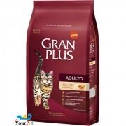 Ração Gran Plus Salmão e Arroz para Gatos Adultos (10,1 kg / 10 pacotes individuais de 1kg cada) - Guabi