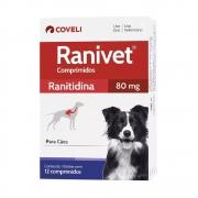 Ranivet 80 mg Ranitidina para Cães - Coveli (12 comprimidos)