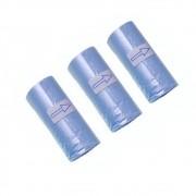 Refil Cata Caca com 3 rolinhos -Coletor de resíduos - Bom Amigo (Azul)