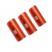 Refil Cata Caca com 3 rolinhos -Coletor de resíduos - Bom Amigo (Vermelho)