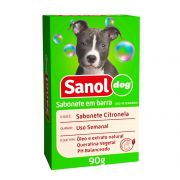 Sabonete Citronela Sanol Dog para Cães e Gatos (90 g) - Total Química