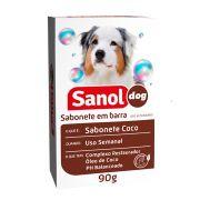 Sabonete Coco Sanol Dog para Cães e Gatos (90 g) - Total Química