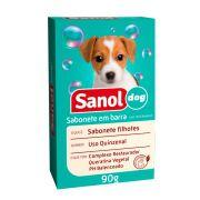 Sabonete Filhotes Sanol Dog para Cães e Gatos (90 g) - Total Química