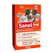 Sabonete Neutro Sanol Dog para Cães e Gatos (90 g) - Total Química