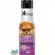 Shampoo Filhotes K Dog para Cães e Gatos - Limpeza Delicada e Fragrância Suave - Total Química (500 ml)