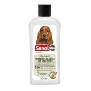 Shampoo Neutralizador de Odores Sanol Dog para Cães e Gatos (500 ml) - Total Química