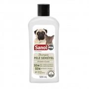 Shampoo Pele Sensível Sanol Dog para Cães e Gatos (500 ml) - Total Química