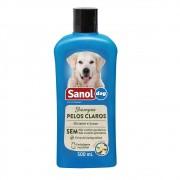 Shampoo Pelos Claros Sanol Dog para Cães e Gatos (500 ml) - Total Química