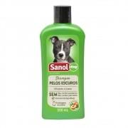 Shampoo Pelos Escuros Sanol Dog para Cães e Gatos (500 ml) - Total Química