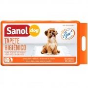 Tapete Higiênico Sanol Dog para Cães de todas as raças e idades 80 x 60 cm (30 unidades) - Total Química
