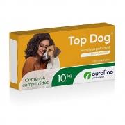 Top Dog 10 kg - Vermífugo Palatável para Cães - OuroFino (4 comprimidos)
