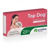 Top Dog 2,5 kg - Vermífugo Palatável para Cães - OuroFino (4 comprimidos)