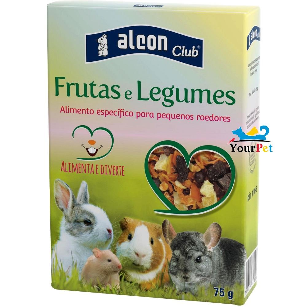 Alcon Club Frutas e Legumes - Alimento específico para pequenos roedores (75 g)