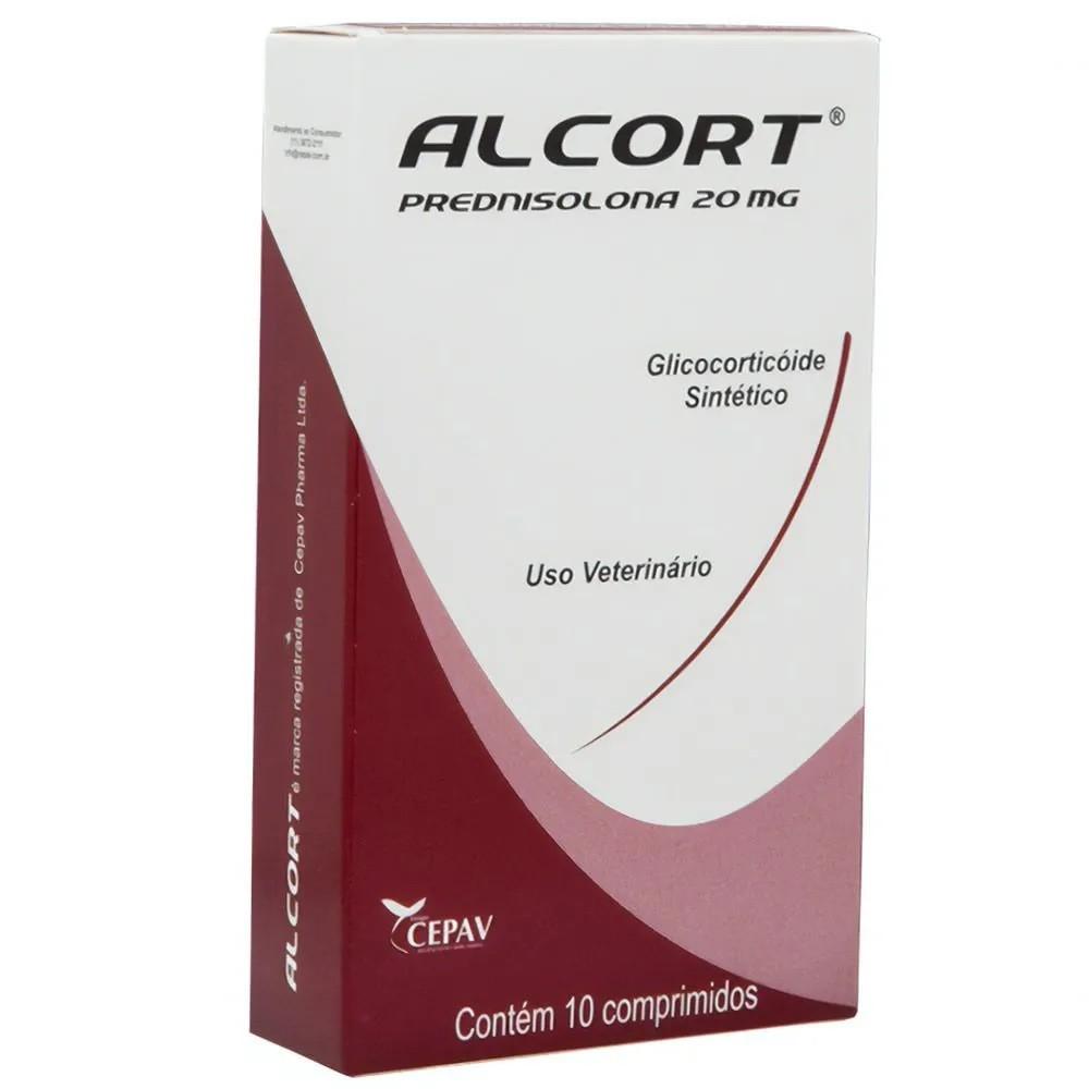 Alcort 20mg - Anti-inflamatório esteroidal à base de Prednisolona - Cepav (10 comprimidos)