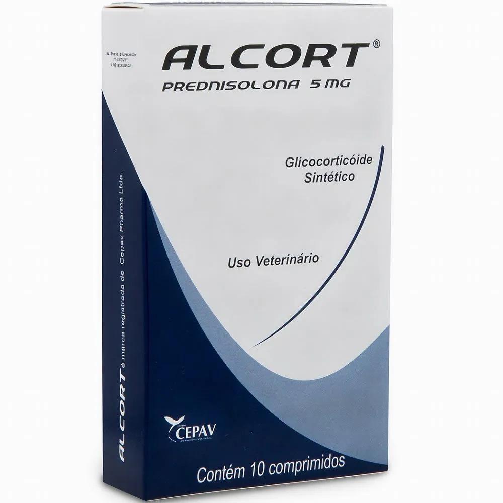 Alcort 5mg - Anti-inflamatório esteroidal à base de Prednisolona - Cepav (10 comprimidos)