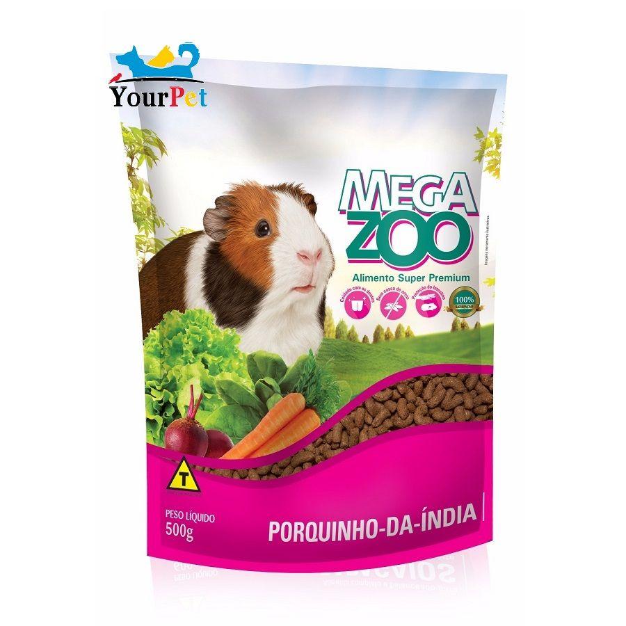 Alimento Super Premium Completo para Porquinhos-da-índia - Mega Zoo (500g)
