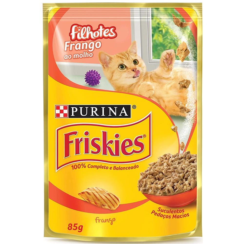 Alimento úmido Friskies Sachê Frango ao Molho para Gatos Filhotes - Nestlé Purina (85g)