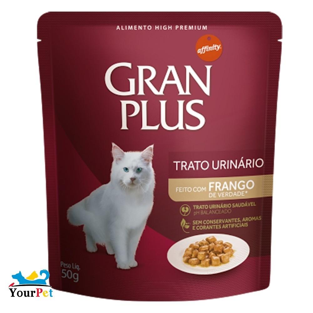 Alimento úmido Gran Plus Sachê Trato Urinário Frango para Gatos Adultos - Guabi (50g)